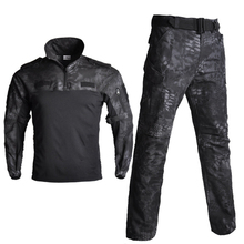 Camouflage Tactical Combat Suits Military Training Uniform Shirt + Pants Hiking Shooting Hunting Clothes