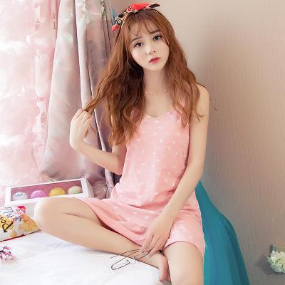 Mulheres Camisolas De Algodão Noite Vestido Sexy Alcinhas Com Decote Em V Casual Vestido Camisa de Noite Pijamas roupa Em Casa Respirável