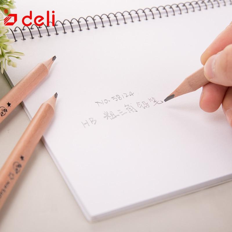 Deli® Pencils 6 Pcs//Box HB Pencil Student Waitting School Stationery Drawing