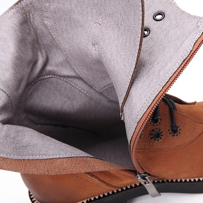 Rond En Cuir 39 Noir Bottes Mi mollet Bout Véritable Hiver Chaussures De Taille 34 Lebaluka marron Bandoulière Lacent Femmes DH2eIbWE9Y