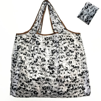 New Fashion Mickey White/Black Girls Woman Kids Big Fold Shopping Bags For Children