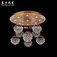 Custumized хрустальная люстра лампа Золотой светильник тела кристалл освещение с светодиодный источник света для украшения дома