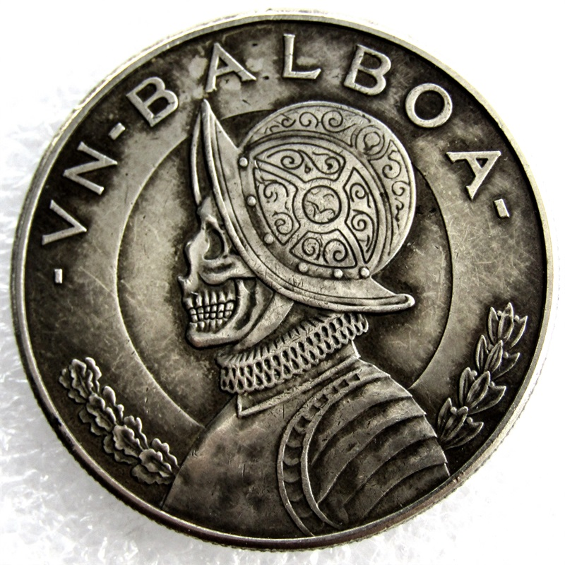 Carved, Hobo, Panama, Skull, Hand, Silver