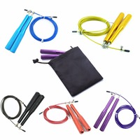 Crossfit Jump Rope With Alumunum Handle Wire Length 3 Meters Fitness Equipment For Weight Loss Speed