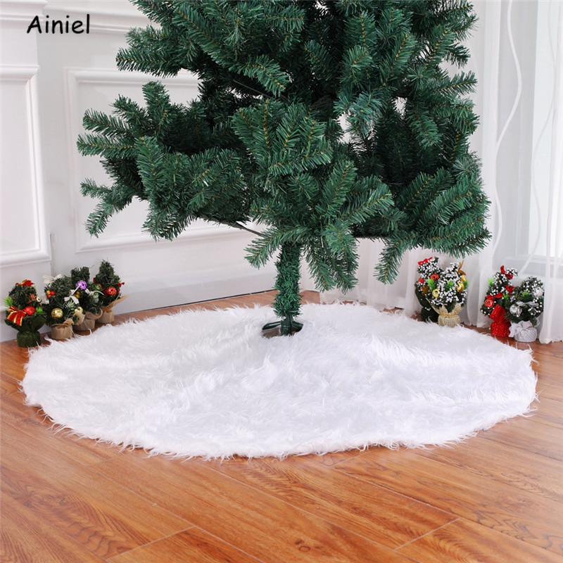Christmas Tree Skirt Carpet Party Ornaments Christmas Xmas Tree Skirt Red Santa Claus Christmas Snowman New Year Decorate Home