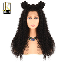 Curly Wig 250% Density Long Lace Front Human Hair Wigs For Black Women Remy Brazilian Pre Plucked With Baby Hair Elegant Queen