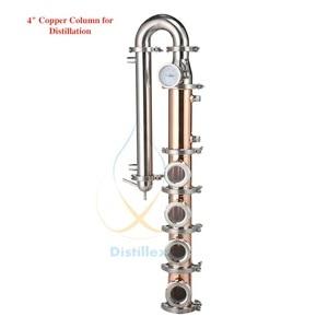 Image 1 - Медные Пузырьковые пластины, 4 дюйма 102 мм (od119мм), дистилляционная колонна с 4 секциями для дистилляции, медная колонна