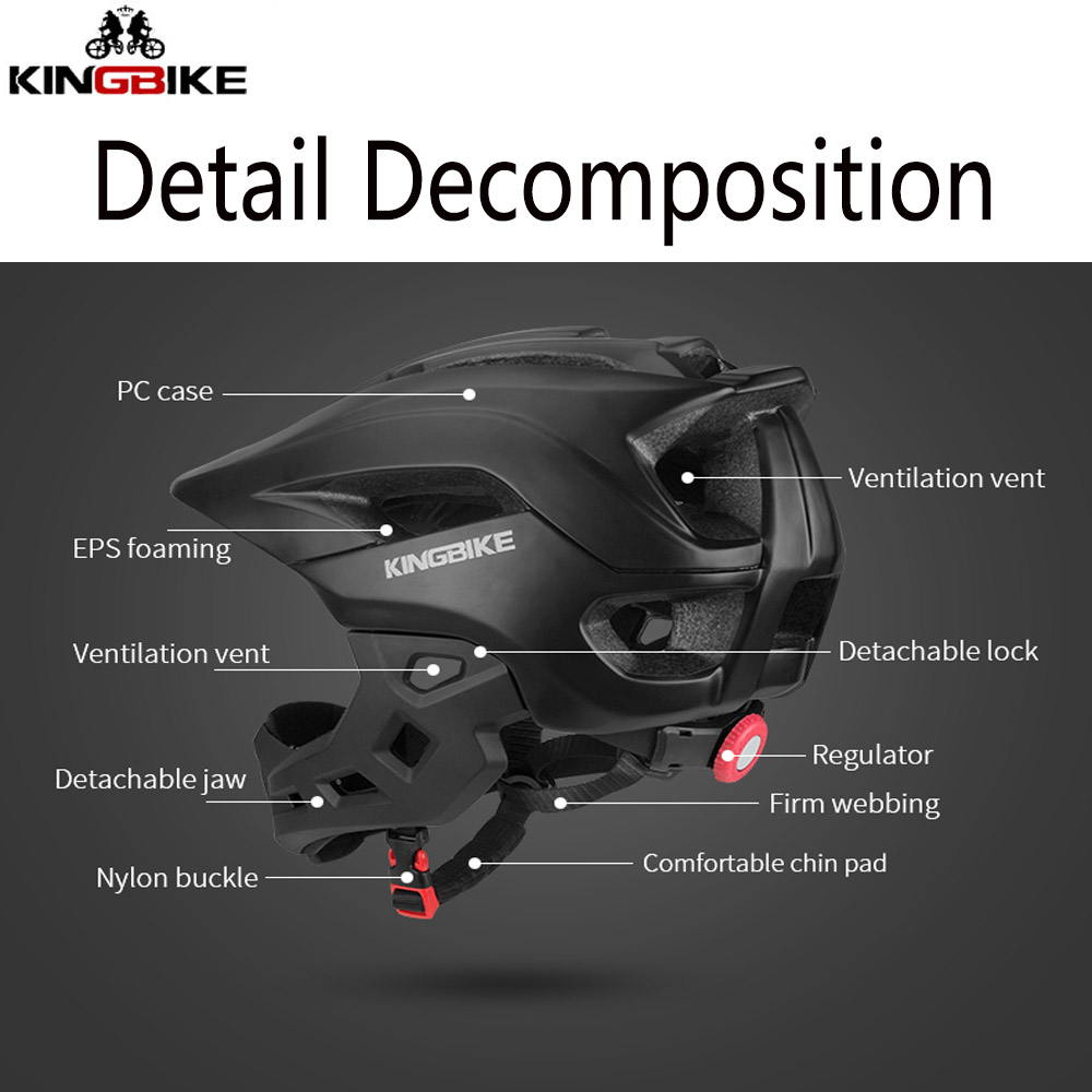 KINGBIKE велосипедный шлем для детей, полное покрытие для лица, спортивные шлемы, Детские MTB велосипедные шлемы для катания на коньках, безопасн...