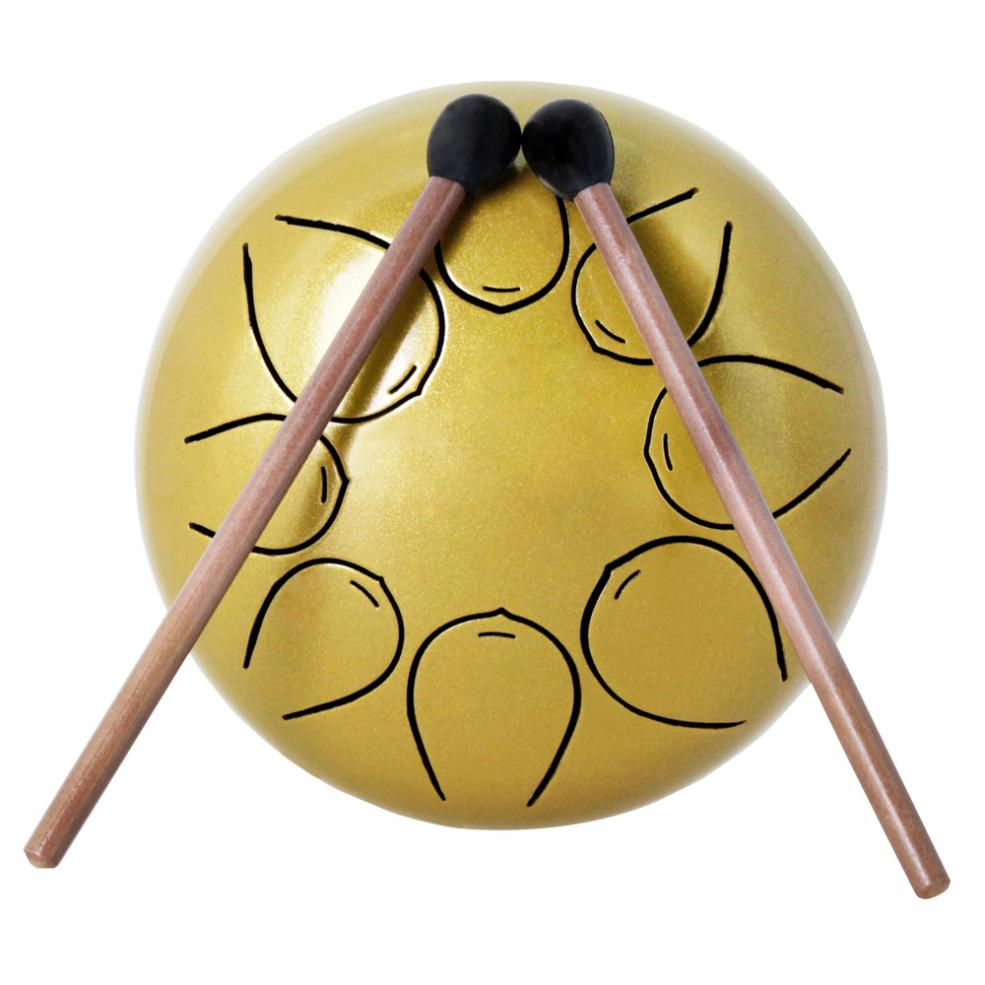 Купить с кэшбэком 5 Inch Hand Size High Quality Portable Ultralight 560g Tongue Drums 8 Notes with Bag and Drum Sticks 5 Colors Optional
