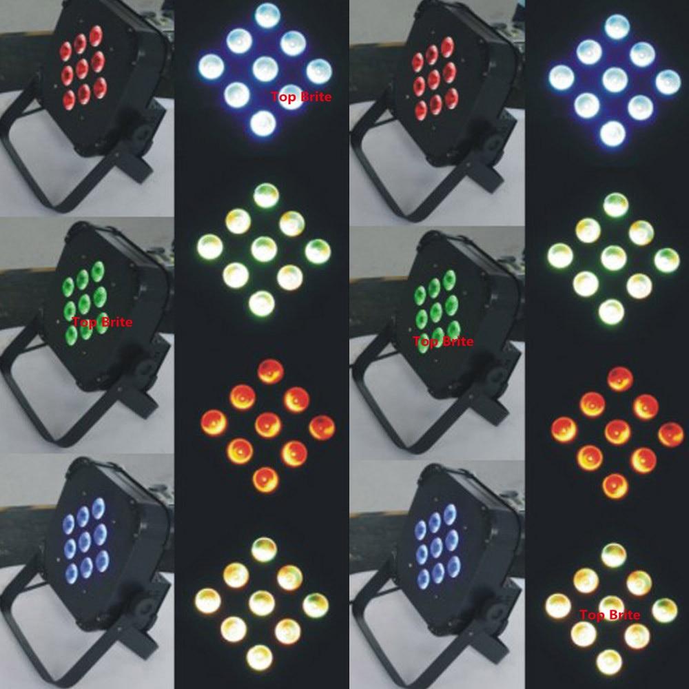 4 Stks / partij Gratis Verzending 9X15 W RGBWA 5IN1 LED Platte Par - Commerciële verlichting - Foto 6