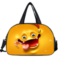 Emoji / Emoticon Print Shoulder Bags Face Expression Handbags For Women Men Casual Travel Bag For Girls Boys Luggage Bags