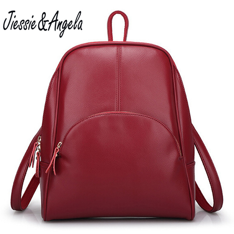 Jiessie & Angela 2016 hot sale women spilt leather backpack fashion girl school bag casual female rucksacks for women bags 2016 hot sale fashion canvas cute mustache school book bag vintage women backpack casual women backpack