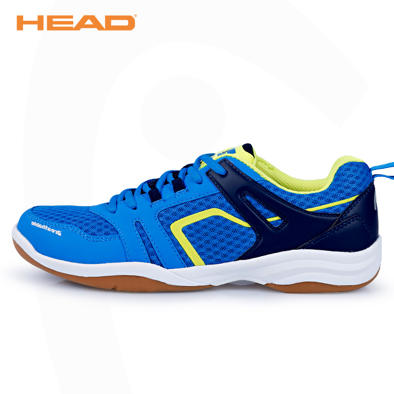 HEAD Hot Breathable Badminton Shoes for Men Anti Slippery Tennis Sneakers Lace up Light Sport Shoes