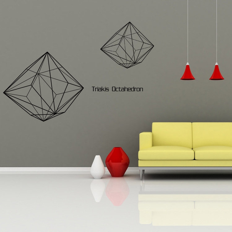 Geometric wall stickers three-dimensional Living room background Office decoration art Home Decoration stickers