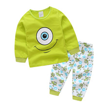 Купить с кэшбэком brand new boys dinosaur pajamas, kids monster sleepwear baby animal pyjamas children cotton nightwear for 2-7Years