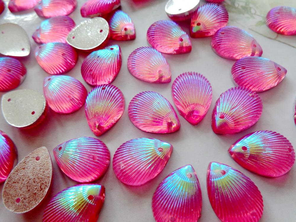 120pcs 10 14mm pink AB colour rhinestones Sew On stones water drop shape  resin crystal flatback strass gem stones-in Rhinestones from Home   Garden  on ... 5a7dc96b83bd