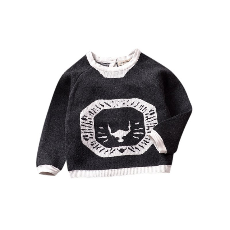 Baby Boys Girls Autumn Childrens Clothing Sweater Toddler Girls Jumper Knitwear Printing Animal Long-Sleeve Pullover Baby Cloth