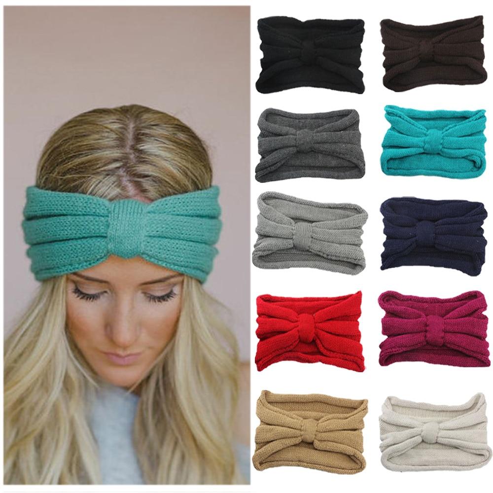 ac8e5cac935d Femmes Dames Hiver Chaud Crochet Tricoté Noeud Turban Bandeau de Cheveux  Head Band HATYS0020