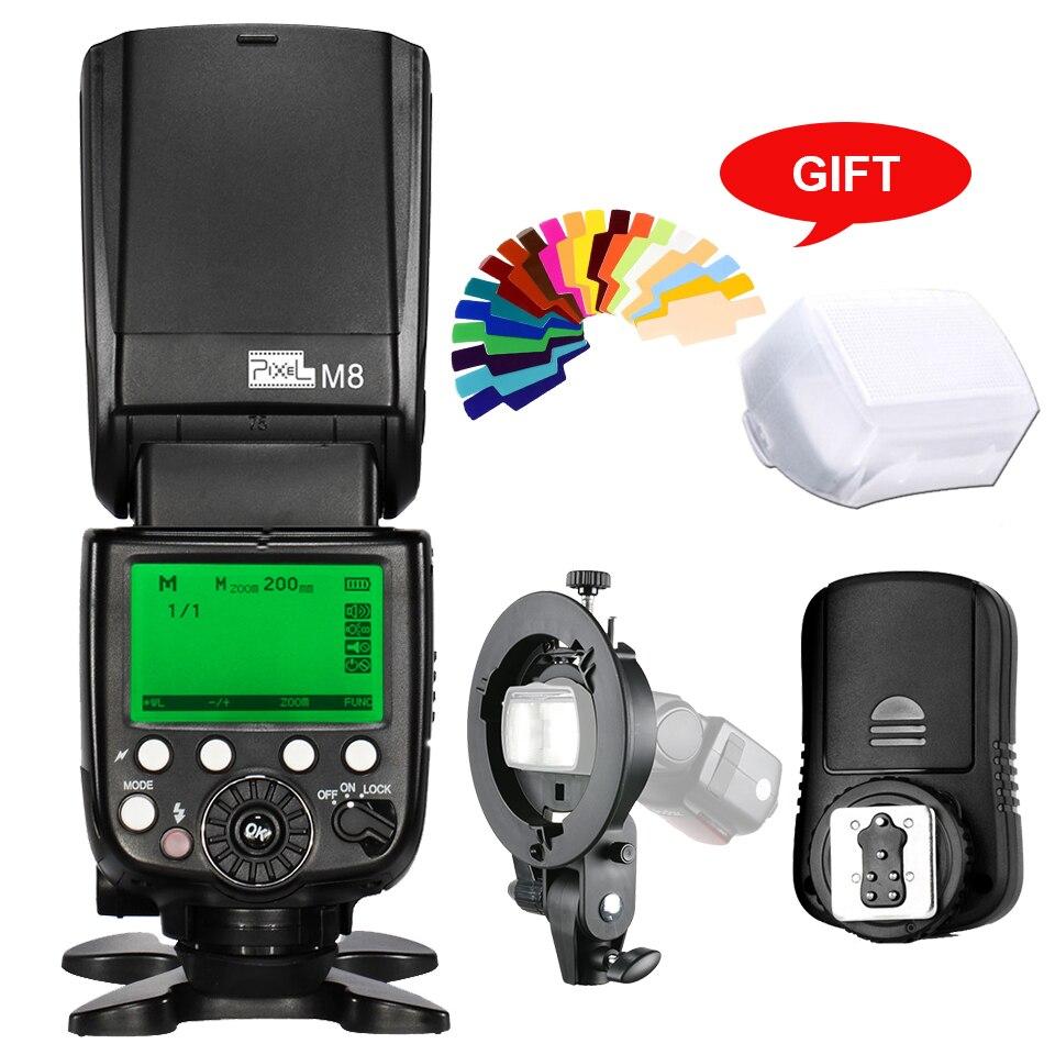 M8 Встроенный 2,4 г Беспроводная вспышка для камеры Speedlite + TF 361 передатчик + Bowens S Тип Кронштейн для Canon 5D2 5D3 70d 7D 1100D 650D