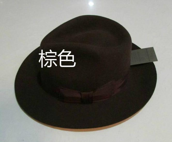 Wool Fedora Hat Unisex Felt Fedoras Hats Adult Fashion Trilby Hats Popular Headwear Wool Fedora Trilby Hats Man's Cap  B-8130 5