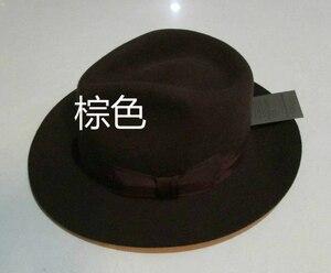Image 5 - Wolle Fedora Hut Unisex Filz Fedoras Hüte Erwachsene Mode Trilby Hüte Beliebte Headwear Wolle Fedora Trilby Hüte Mann der Kappe B 8130