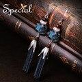 Especial de Moda de Nova 925 Sterling Silver Gancho do Ouvido Brincos Bohemian Brincos Longos Jóias Presentes para Mulheres S1630E Estridente