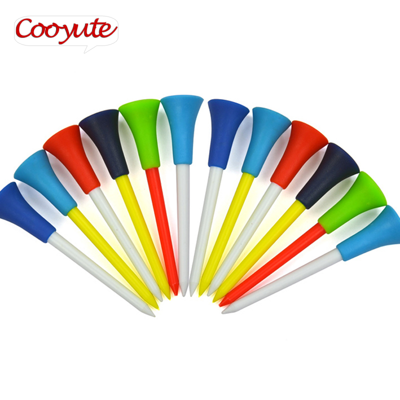 New Golf Tees Plastic Cushion Top Golf Tee 50Pcs/lot Practice Training Golfer Tees Multi Color Golf Accessories