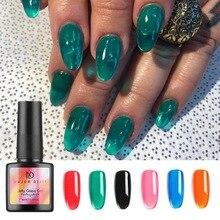 Stylisn ゼリー爪ゼリーキャンディーガラス爪夏半透明のネオンカラー UV ネイルジェルポリッシュ 8 ミリリットル