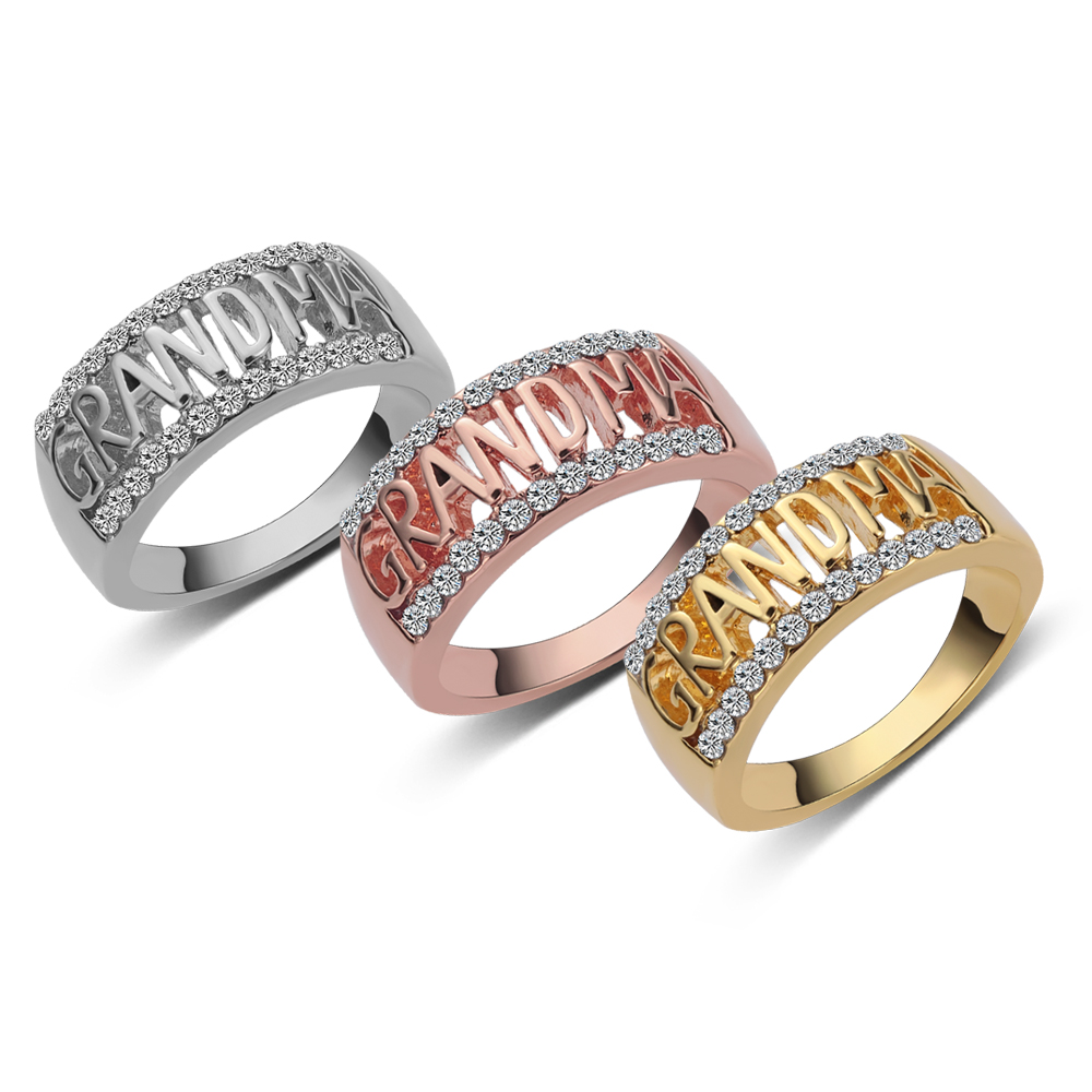 Women/'s Rings Boho Rose Gold Crystal Ring Fashion Party Jewelry Gift 4Pcs//Set UK