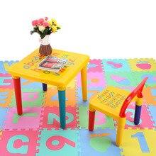ABC Алфавит Пластиковый Стол и Стул Набор Для Детей/Детская Мебель Наборы Посуды Для Пикника Стол Сиденье Мебели