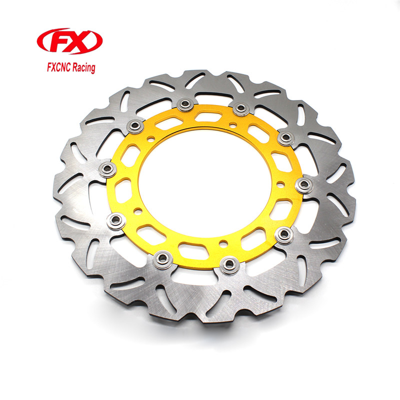 FX CNC Motorcycle Brake Disks Front Brake Disc Rotor For Yamaha YZF R15 2015 Motorbike Front Brake Disc Rotor keoghs motorcycle brake disc brake rotor floating 260mm 82mm diameter for yamaha scooter bws cygnus front disc replace modify