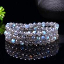 Fashion Multilayer Beaded Labradorite Bracelets for Women Energy 5A Moonstone Strand Bracelet Handmade Nature Stone Bead Jewelry