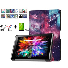 Case for Acer Iconia Tab 10 A3-50 10.1″ Tablet Cover Funda Tablet PU Leather Folding Flip Stand Shell case for Acer A3 A50