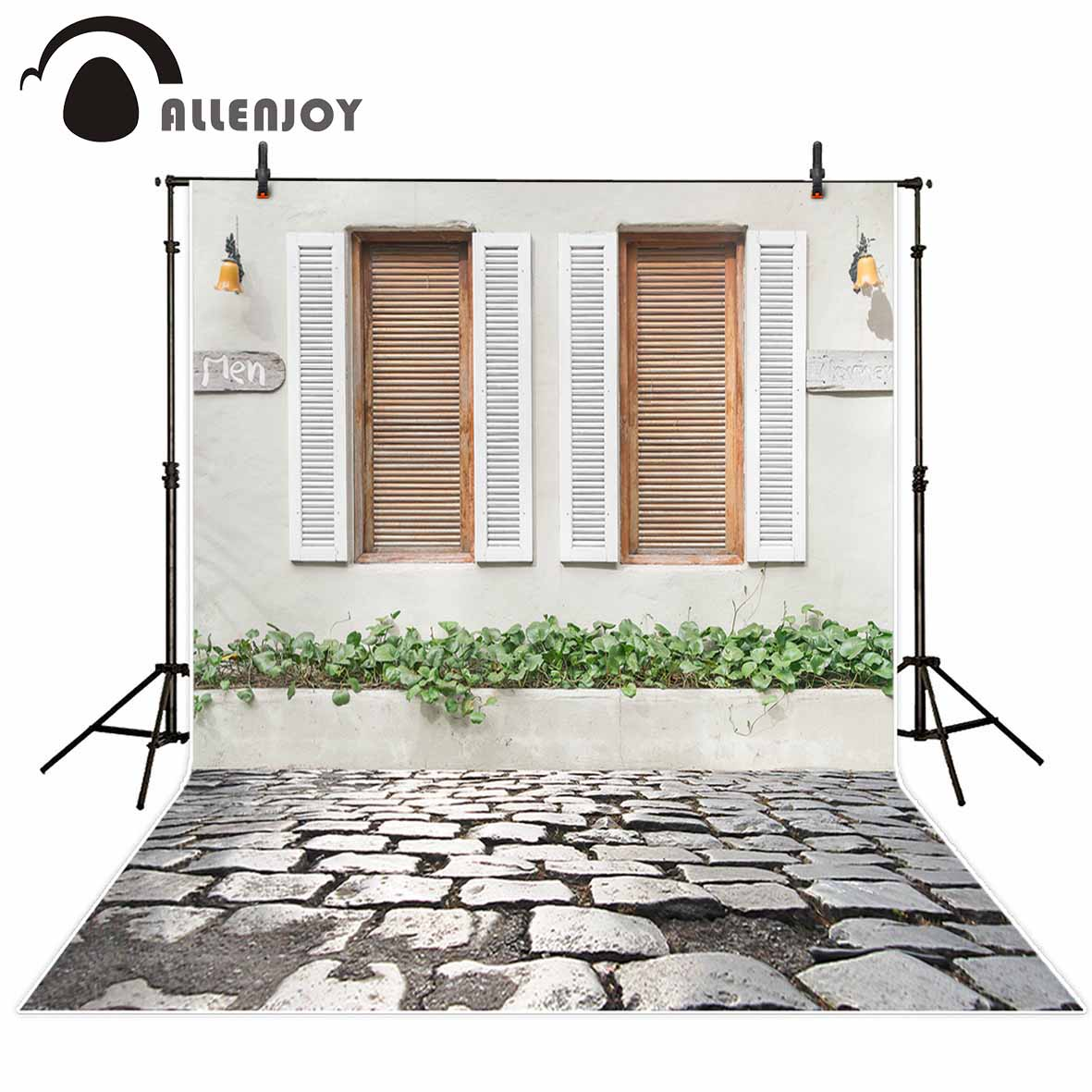 Allenjoy photographic background White natural plant shutters minimalist style new backdrop photocall photo printed customize