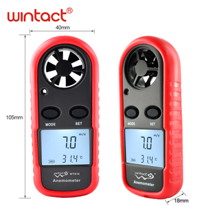 Image 3 - Mini Digital handheld Wind speed meter scale Anemometer Thermometer WT816 WINTACT