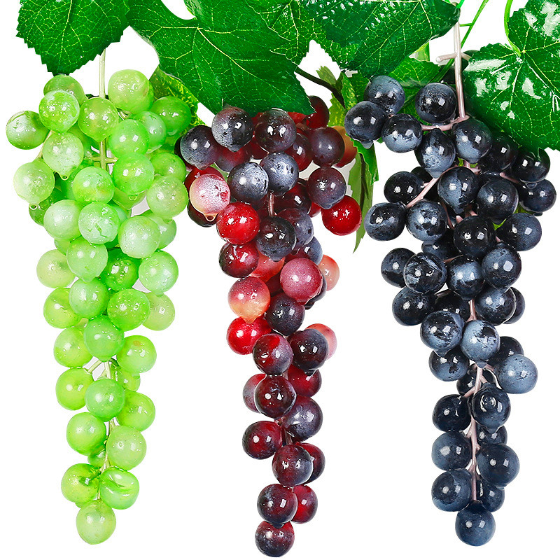 Artificial Fruits 1 PCS Artificial Grape Artificial Fruits Artificial Grapes Fake Fruit Christmas Home Wedding Party Decor