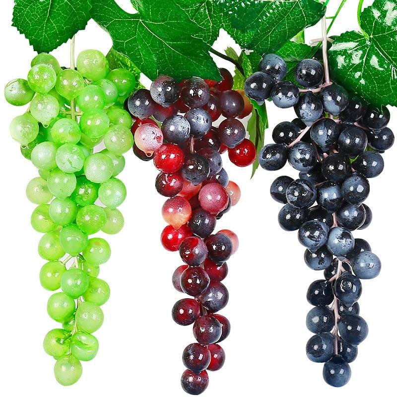 Artificial Fruits 1 PCS Artificial Grape Artificial Fruits Artificial Grapes Fake Fruit Christmas Home Wedding Party Decor
