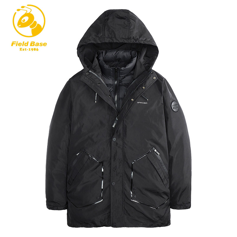Field Base Brand Clothing Winter Parka Men Cotton Thick Warm Two Jackets In One Winter Coats Male Parkas Autumn Winter HX2786 2017 fashion boy winter down jackets children coats warm baby cotton parkas kids outerwears for