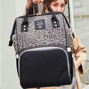 Image 5 - Saco de fraldas mochila viagem leopardo men múmia cuidados com o bebê saco de carrinho grande capacidade à prova dwaterproof água saco do bebê negócios para a mãe