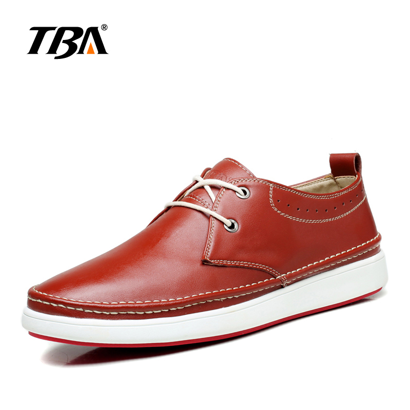 2017 TBA 5906# New Design Men Red Bottom Sole Lace Up Flats Shoes Wholesale Genuine Leather Fashion Loafers Skateboarding Shoes