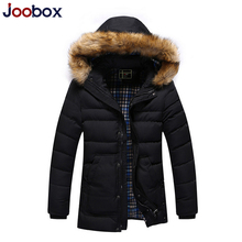 JOOBOX Brand 2017 Winter Jackets Mens Rushed Casual Winter male Coats Warm thicken Parkas Hooded Outerwear Overcoat Fur Clothing