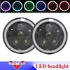 7 Round Light Ring Halo Angel Eye 7 Inch Led Headlights For Jeep Wrangler JK