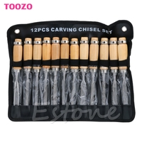 12Pcs Wood Carving Hand Chisel Tool Set Woodworking Professional Gouges B119