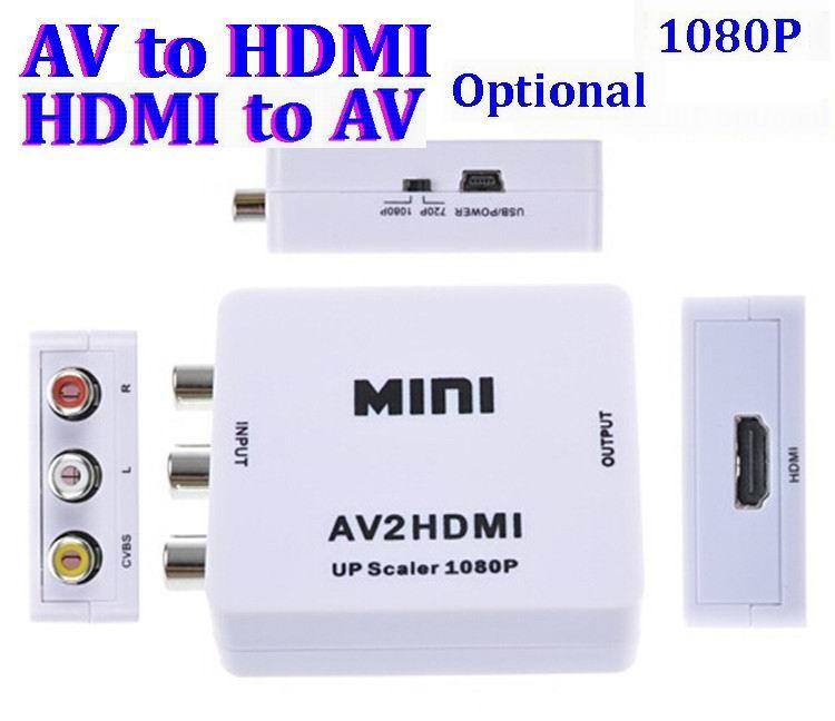 HDMI 어댑터에 컴포지트 RCA AV HDMI CVBS 지원 HDMI에 HD 720P 1080P AV, AV 비디오 컨버터에 미니 HDM