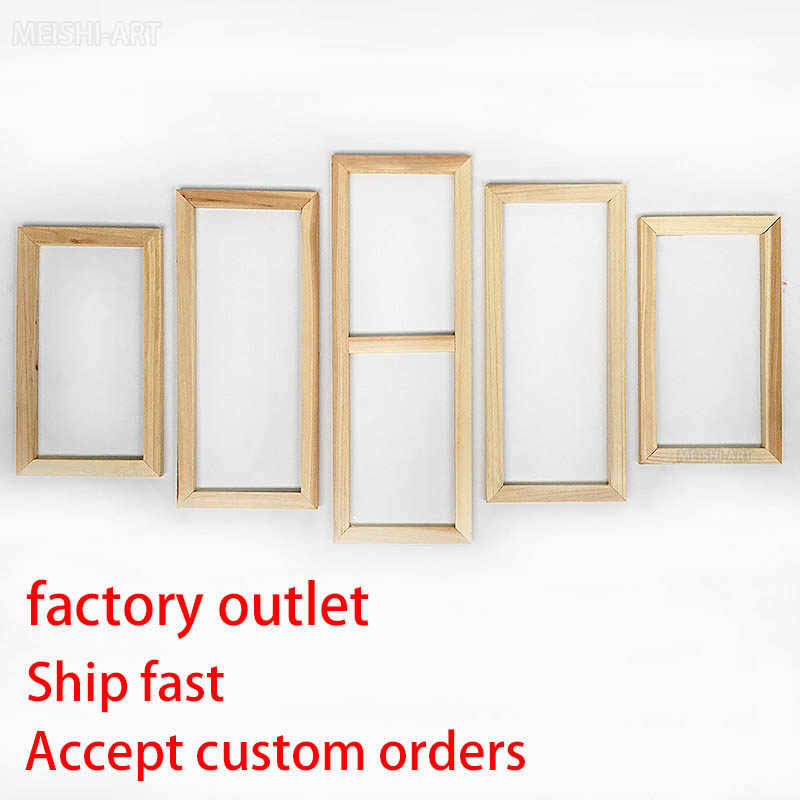 Factory Directly 5 Panel Wood Frame Set for Canvas Oil Painting Tool Custom DIY Inner Wooden Frame for Painter Gallery Prints
