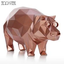 Tooarts Tomfeel Hippo Modern Sculpture Resin Sculpture Abstract Sculpture Animal Figurine Home Decoration Accessories Crafts