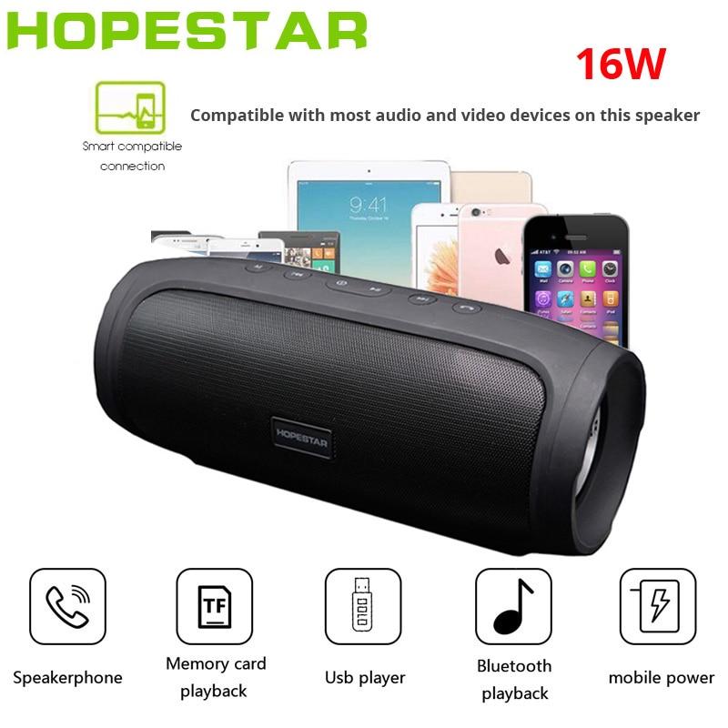 HOPESTAR H14 haut-parleur Bluetooth sans fil Subwoofer15W colonne Portable étanche boîte de son TV caisson de basses BoomBox pour xiaomi pk H20