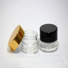5g 6Pc Empty Glass Jar With Aluminium Lid Travel Refillable Cosmetic Storage Mini Medical Clear Bottle Portable