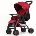 Intelligent Children's Music Baby Trolley Portable Folding Four Wheeled Hand Push Can Sit Lying Baby Cart Umbrella Car Bb Car