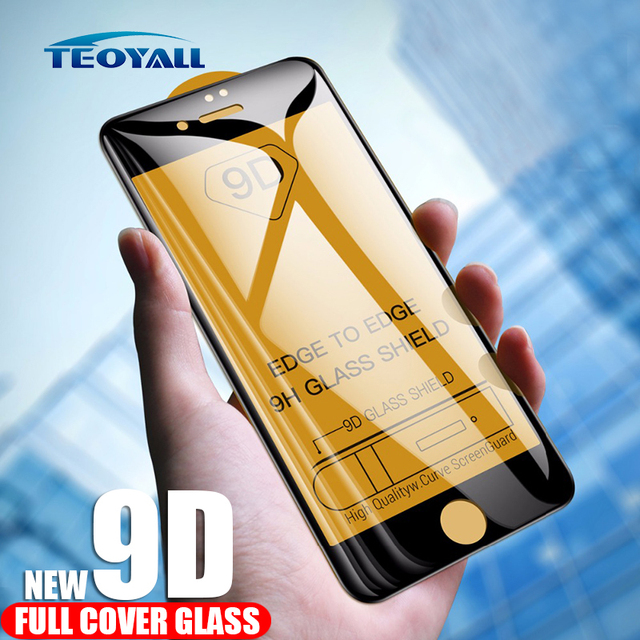 TeoYall 9D Protective Glass for iPhone 7 6 8 PLUS  Glass on iPhone 7 Screen Protector iPhone 7 6s Plus Tempered Glass Protection